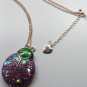 Betsey Johnson New Beetle Necklace